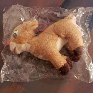 Vintage Rudolph Plush Christmas Ornament